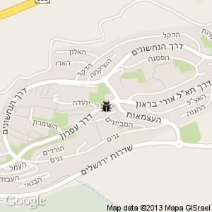 מדביר באריאל מפה